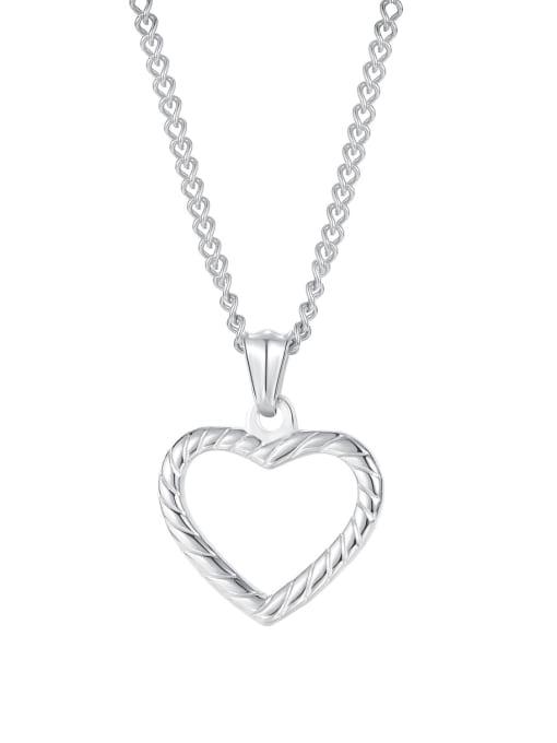 Open Sky Titanium Steel Minimalist  Hollow Heart  Pendant 3