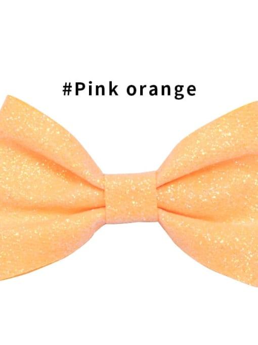 3 Pink Orange Alloy Fabric Cute Bowknot  Multi Color Hair Barrette