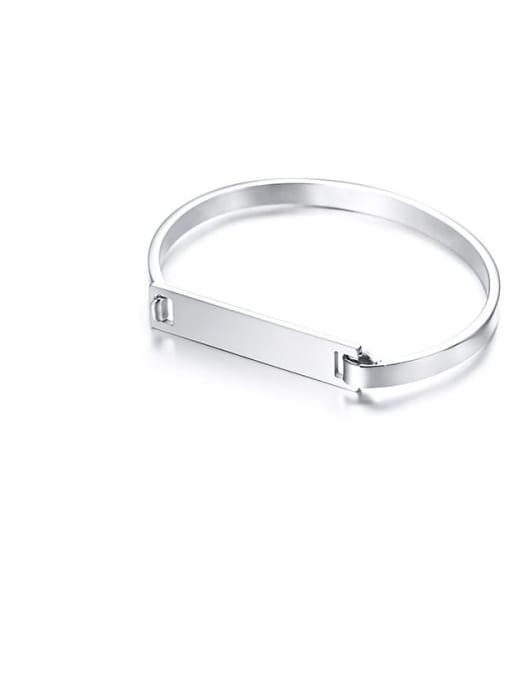 CONG Stainless steel Smooth Geometric Minimalist Band Bangle 3