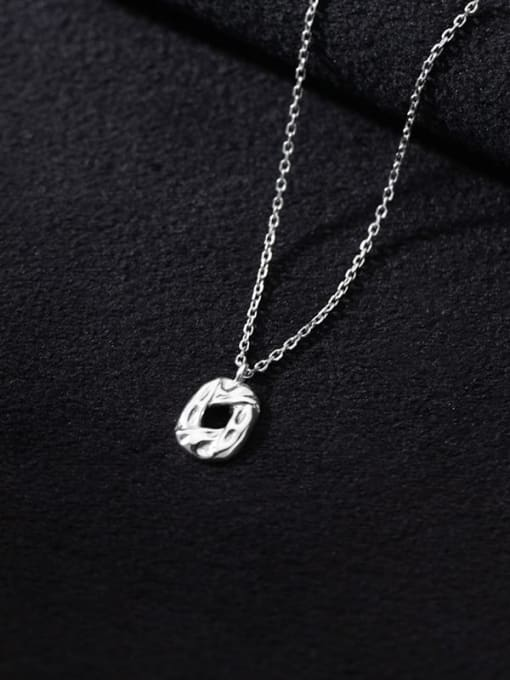 Rosh 925 Sterling Silver Hollow Geometric Minimalist Necklace