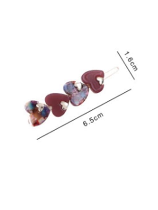 Chimera Cellulose Acetate Minimalist Heart Hair Pin 3