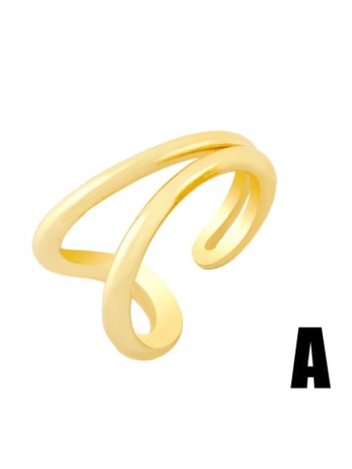 CC Brass Irregular Hip Hop Band Ring 3