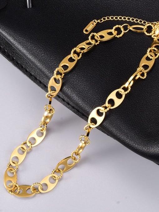 A TEEM Titanium Steel Hollow Geometric Vintage Necklace 4