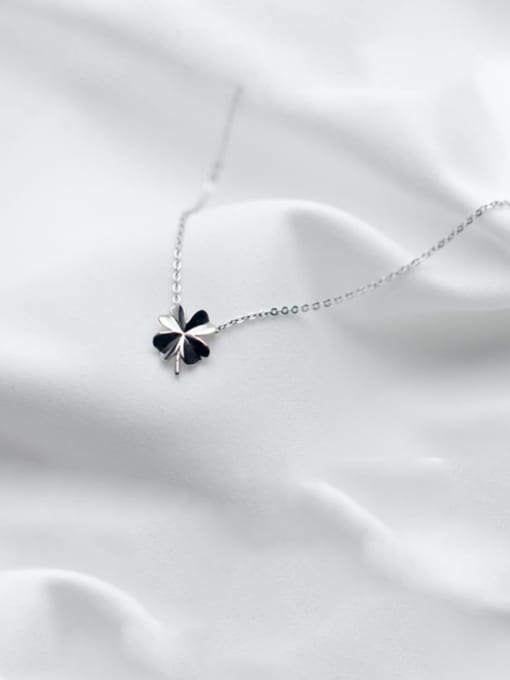 Rosh 925 Sterling Silver Smooth Flower Minimalist Necklace 4