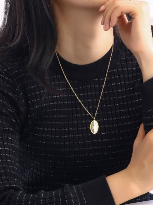 CHARME Brass Geometric Minimalist Necklace 2