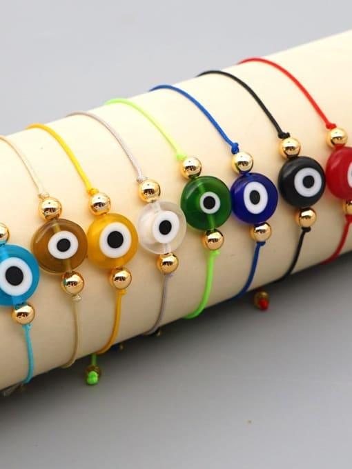Roxi Stainless steel Bead Evil Eye Bohemia Adjustable Bracelet 3