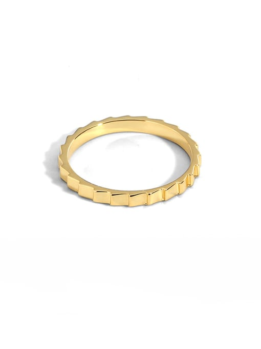 CHARME Brass Smooth  Geometric Vintage Band Ring 0