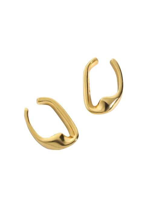 18K gold 925 Sterling Silver Smooth Geometric Minimalist Stud Earring
