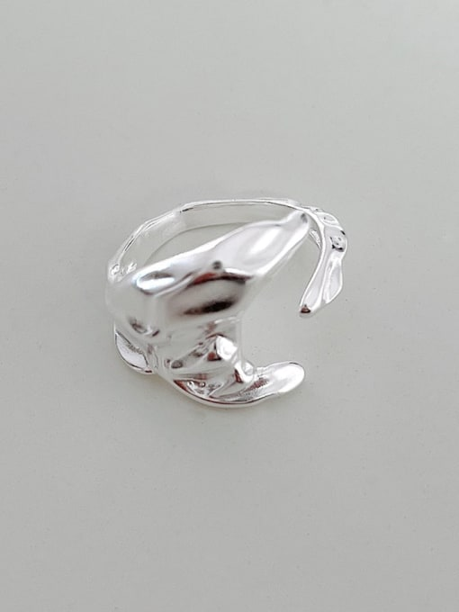 Boomer Cat 925 Sterling Silver Geometric Vintage Band Ring