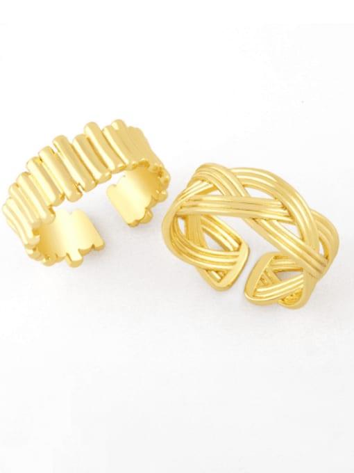 CC Brass Irregular Hip Hop Band Ring 0