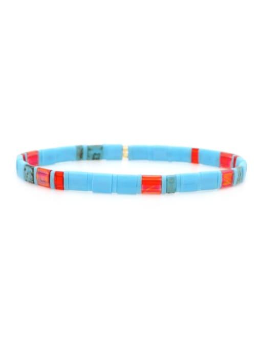 TL B190265C Stainless steel  TILA Bead Multi Color Geometric Bohemia Handmade Weave Bracelet