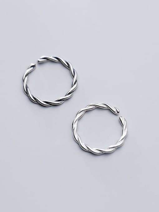 Rosh 925 Sterling Silver Twist Round Minimalist Band Ring 1