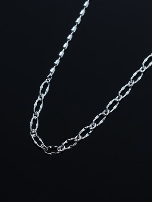 Rosh 925 Sterling Silver  Hollow Geometric Chain Minimalist Necklace 1