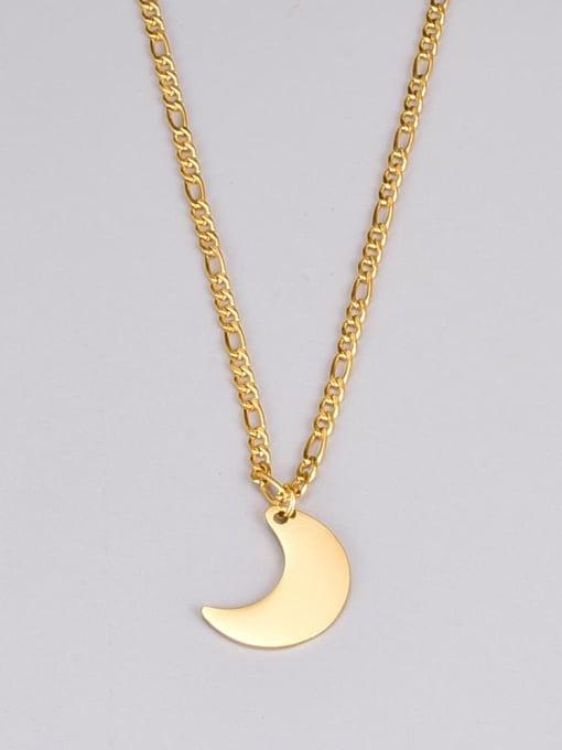 A TEEM Titanium Steel Moon Minimalist Necklace 2