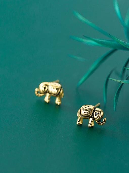 Rosh 925 Sterling Silver Elephant Vintage Stud Earring 2