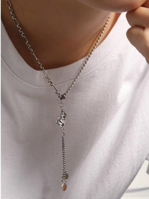 DAKA 925 Sterling Silver Tassel Vintage Tassel Necklace 2