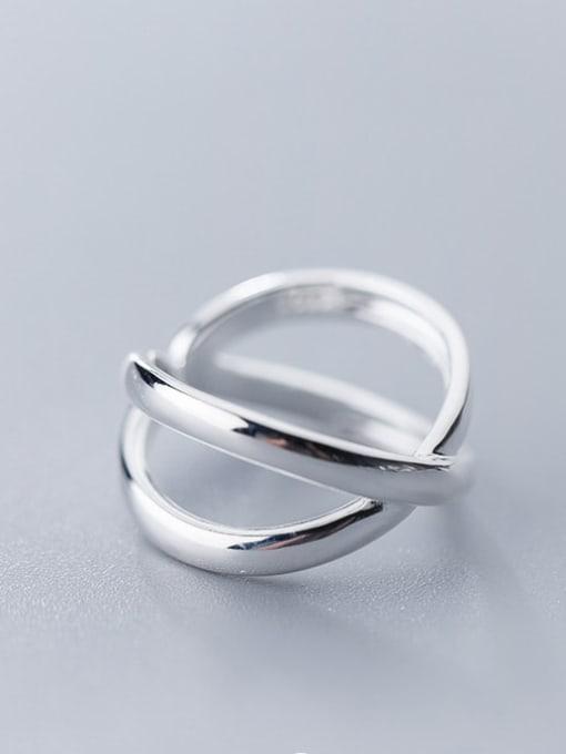 Rosh 925 Sterling Silver Cross Minimalist Band Ring 3