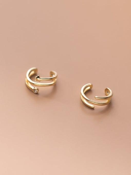 Rosh 925 Sterling Silver Geometric Minimalist Clip Earring 4