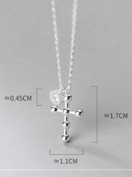Rosh 925 Sterling Silver Cross Minimalist Regligious Necklace 3