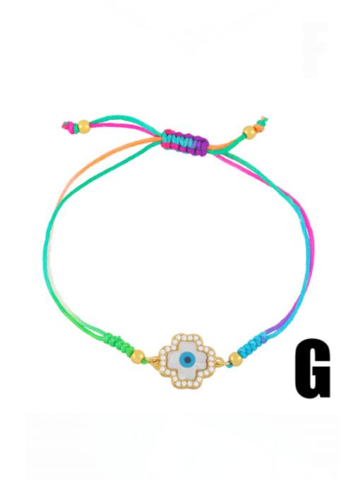 G Brass Enamel Evil Eye Bohemia Adjustable Bracelet