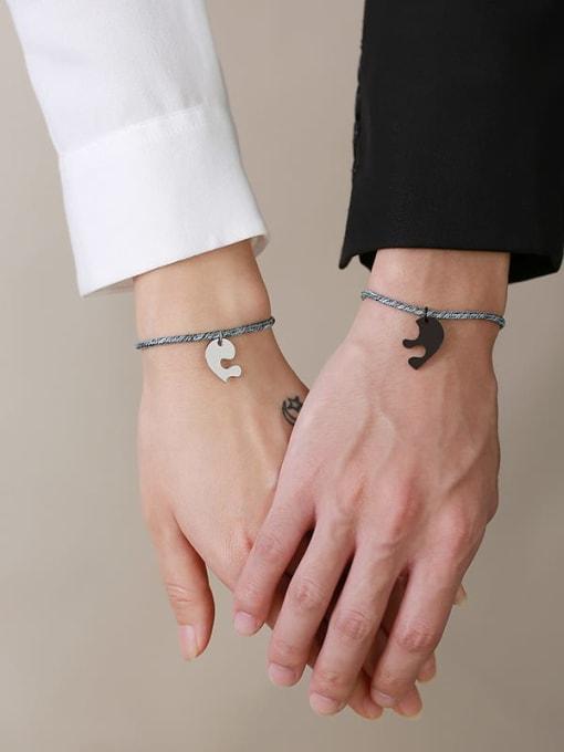CONG Titanium Steel Heart Vintage Bracelet 3