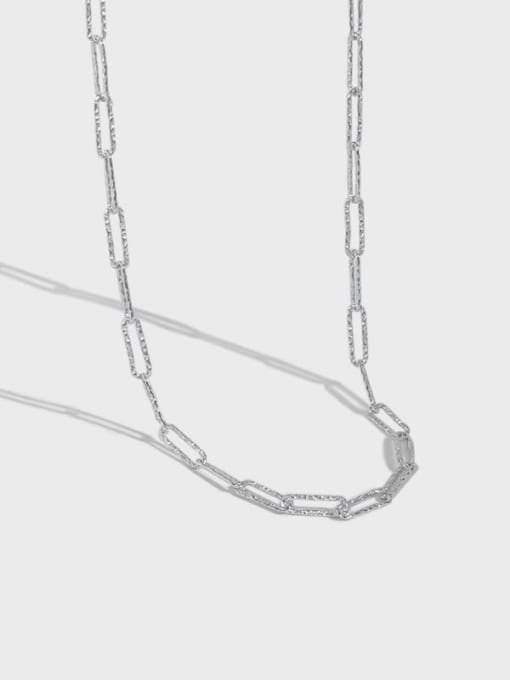 DAKA 925 Sterling Silver Geometric Minimalist Necklace 4