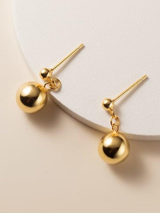 Rosh 925 Sterling Silver Bead Geometric Minimalist Stud Earring 2