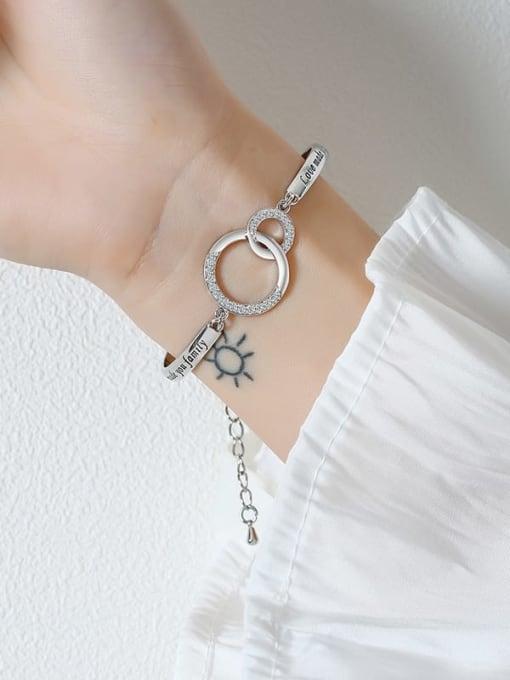 CONG Titanium Steel Hollow  Geometric Minimalist Bracelet 3