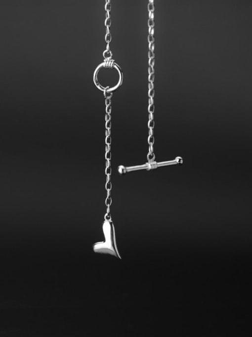 Rosh 925 Sterling Silver Heart Vintage Regligious Necklace 3