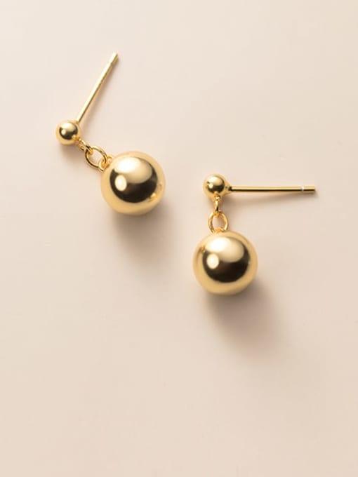 Rosh 925 Sterling Silver Bead Geometric Minimalist Stud Earring