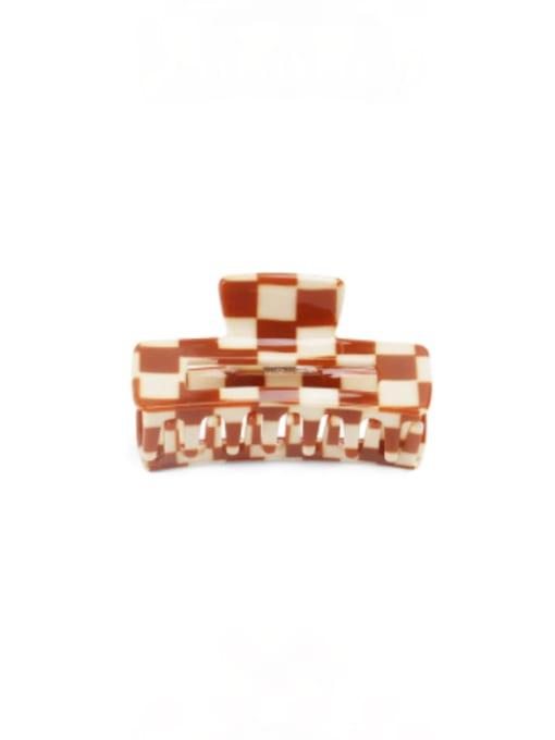 Latticed coffee Cellulose Acetate Minimalist Geometric Zinc Alloy Jaw Hair Claw