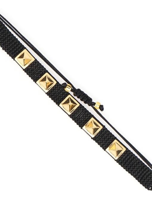 Roxi Multi Color Geometric Miyuki DB Bead Bohemia Handmade Weave Bracelet 3
