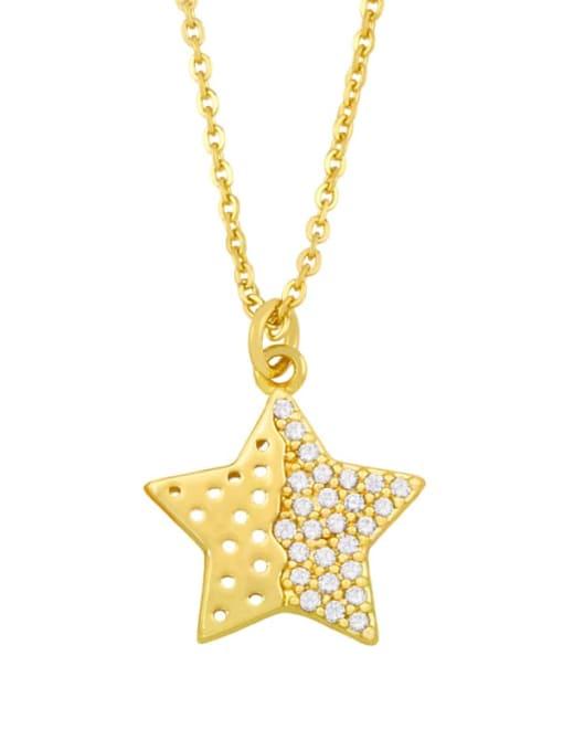 CC Brass Cubic Zirconia Star Vintage Necklace 3