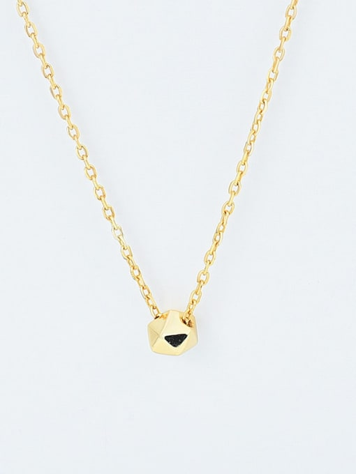 18K gold 925 Sterling Silver Smooth Geometric Minimalist  Pendant Necklace