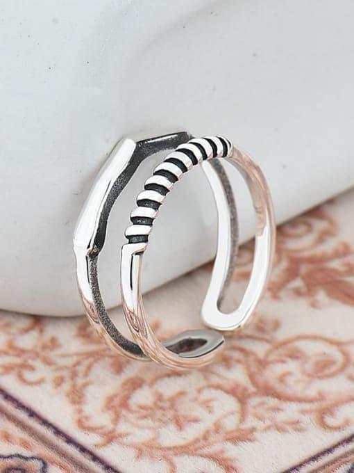 XBOX 925 Sterling Silver Irregular Vintage Stackable Ring 3