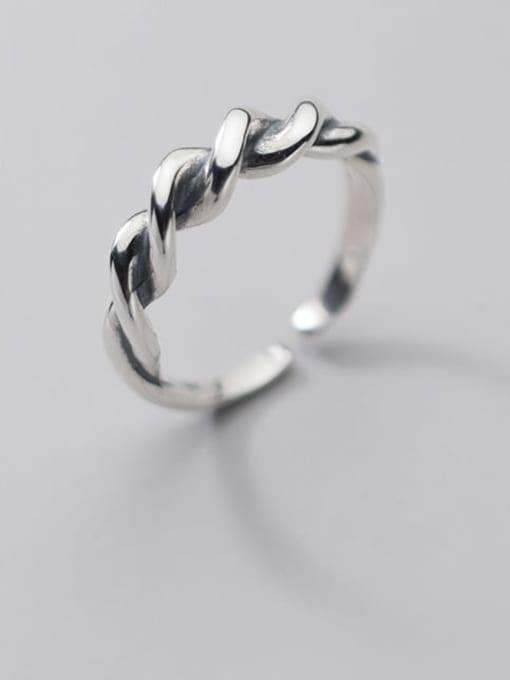 Rosh 925 Sterling Silver Irregular Vintage Band Ring