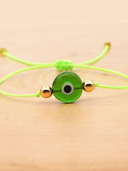 QT B200188D Stainless steel Bead Evil Eye Bohemia Adjustable Bracelet