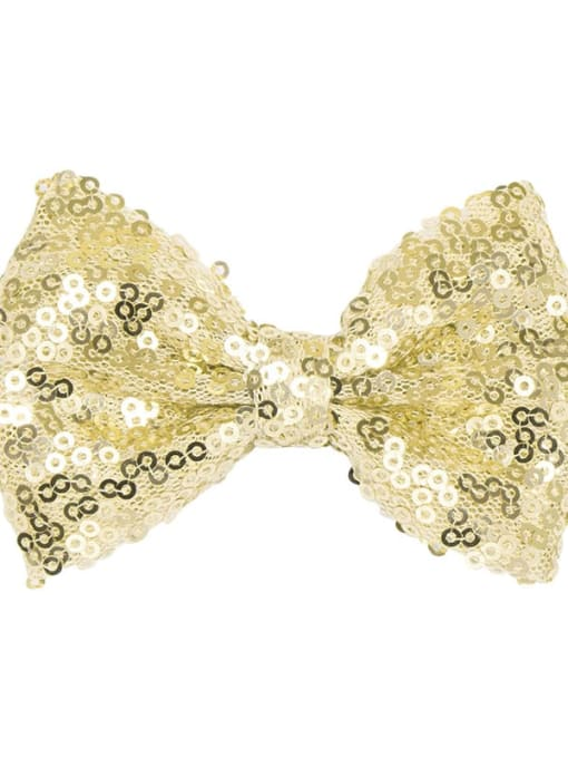 4 cyan gold Alloy Fabric Cute Bowknot  Multi Color Hair Barrette
