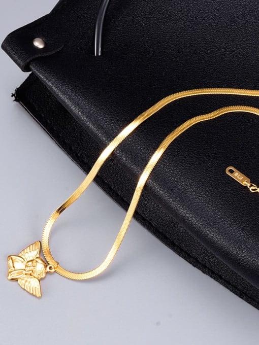 A TEEM Titanium  Cute  Angel Wing Pendant Necklace 3