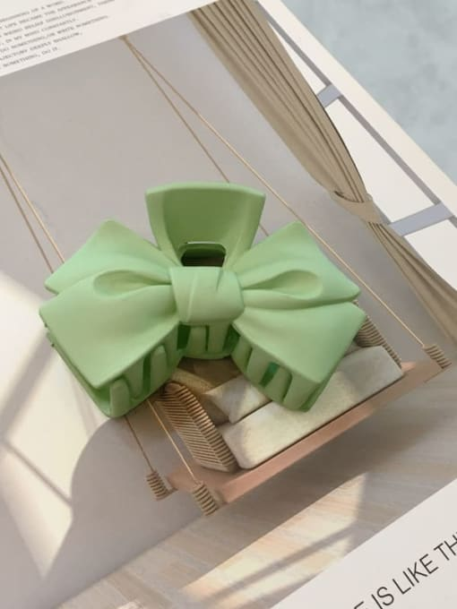 green Cellulose Acetate Minimalist  multicolor Bowknot Jaw Hair Claw