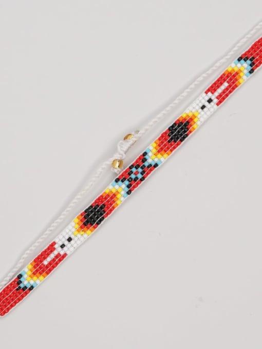 MG B210004B Multi Color  MGB Bead Geometric Bohemia Adjustable Bracelet