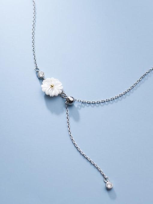Rosh 925 Sterling Silver Resin Flower Minimalist  Anklet 1