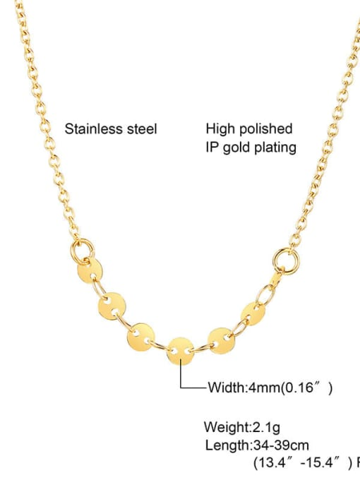 CONG Titanium Steel Round Minimalist Necklace 1
