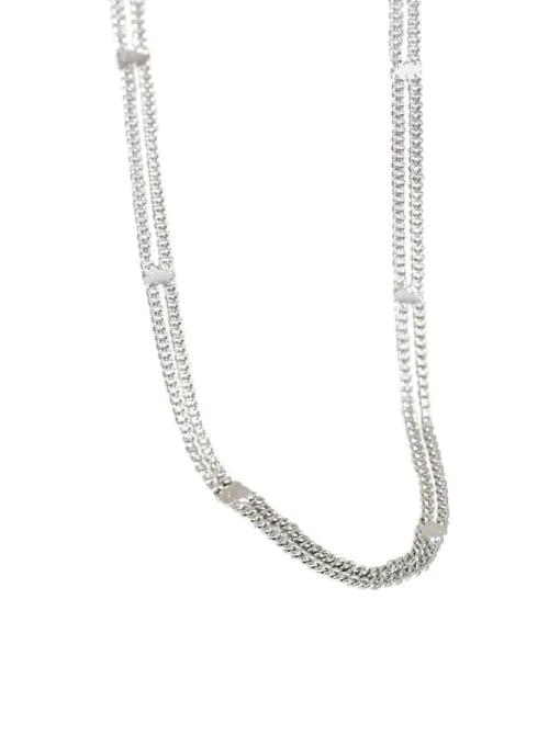 Dak Phoenix 925 Sterling Silver Irregular Minimalist Multi Strand Necklace 4