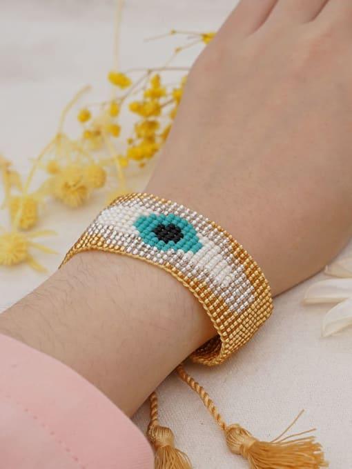 Roxi Multi Color MGB Bead Evil Eye Bohemia Adjustable Bracelet 1