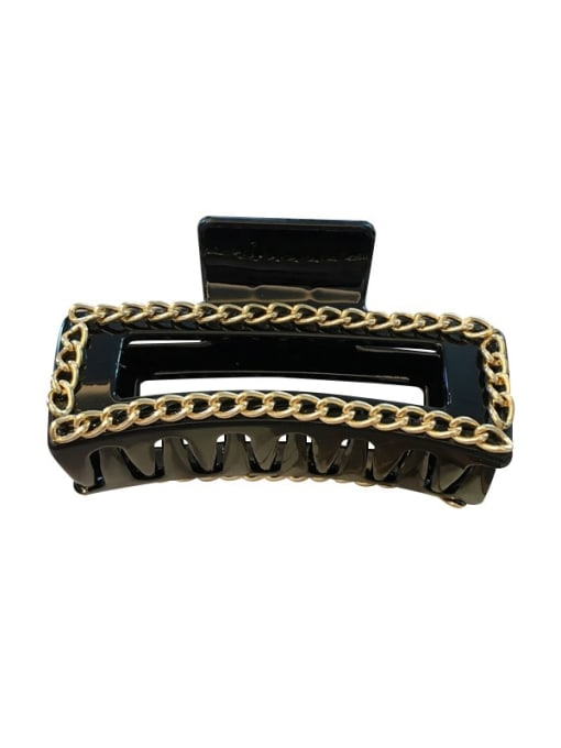 Chimera Cellulose Acetate Alloy  Chain Vintage Geometric Jaw Hair Claw 0