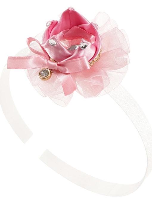 5. Apricot pollen hair band Alloy Yarn Cute Flower  Multi Color Hair Headband