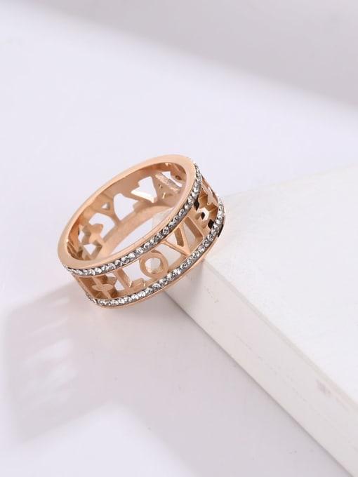 MIYA Titanium Steel Rhinestone Geometric Minimalist Band Ring 1