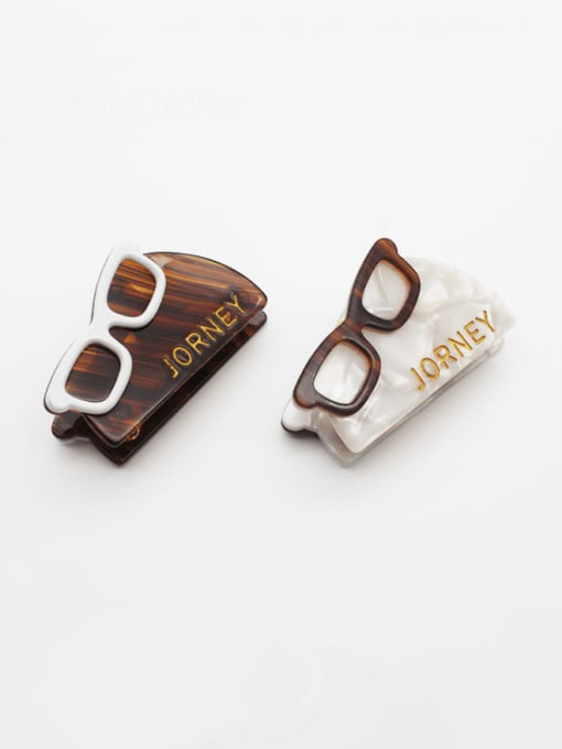 HUIYI Cellulose Acetate Vintage Geometric Zinc Alloy Jaw Hair Claw