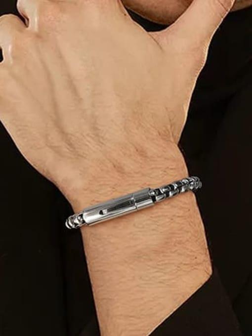 CONG Stainless steel Irregular Vintage Link Bracelet 3